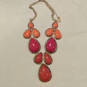 Bold statement necklace, bright colors